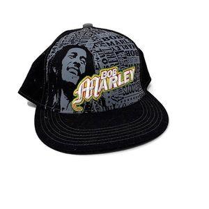 Bob Marley Black Baseball Hat Reggae